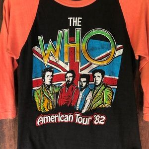 Authentic The Who Concert Tour 1982 Tee Farewell
